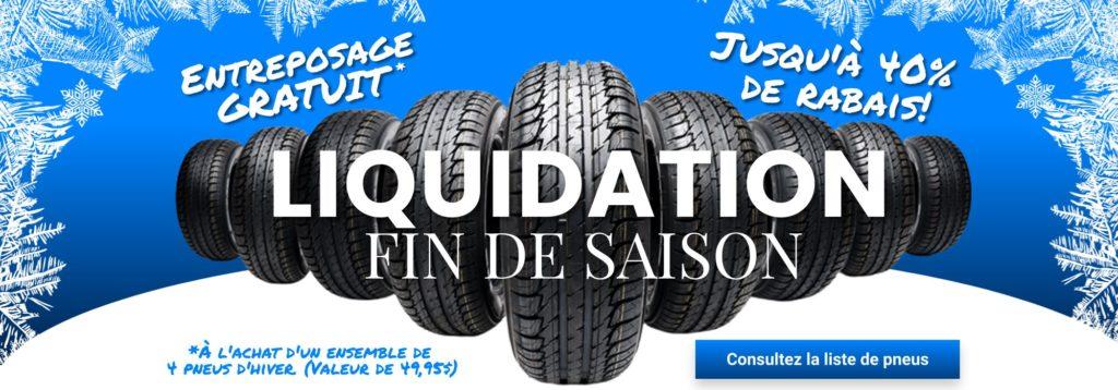 Liquidation pneus d'hiver gatineau